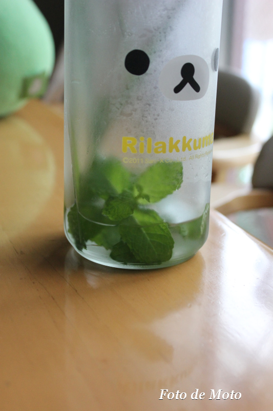 A bottle of herb water