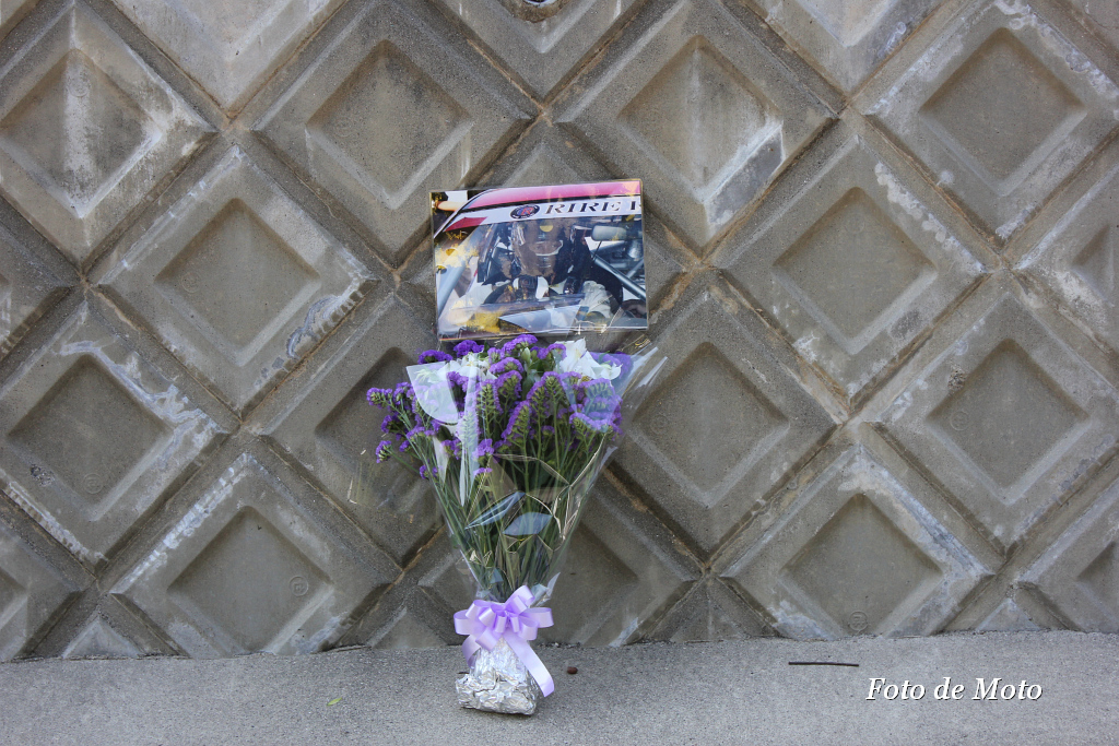 A flower for a driver who killed in an accident