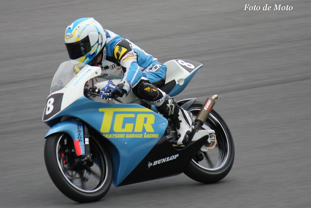 J-GP3 #8 TGR&BP馬行  藤井 岳 Honda RS125R