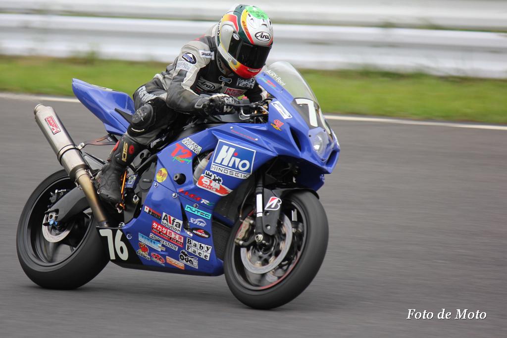 #76 日野精機・岩城&T2with オートボーイ 山内 猛寿 高野 弘毅 Suzuki GSX-R1000