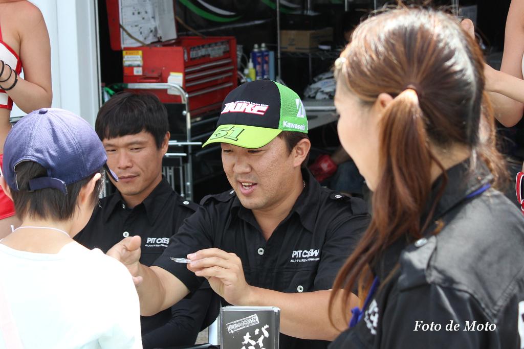 J-GP2 #51 PITCREW&松戸FLASH 高橋 英倫 Takahashi Hidemichi Kawasaki MZX-6R