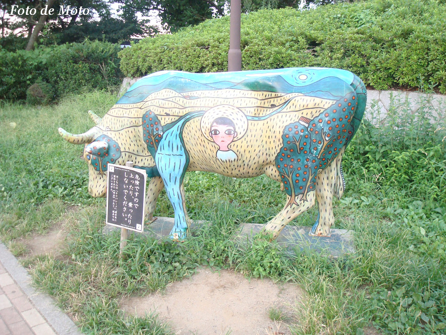 A colorful cow