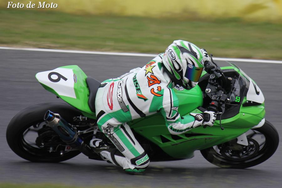ST250 #6 アップライズ☆レーシング 折尾 弘史 Kawasaki Ninja250R