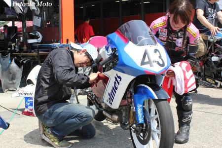 J-GP3 #43 Hondaブルーヘルメット 足立 眞衣 NSF250R