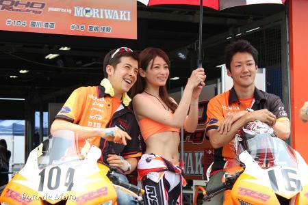 TOHO Racing pwd by モリワキST600 #16  宮嶋 佳毅 #104 國川 浩道 CBR600RR