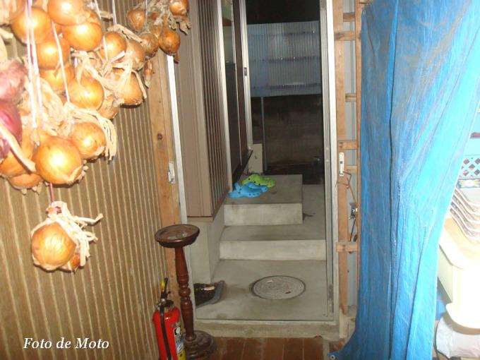 浴室への通路