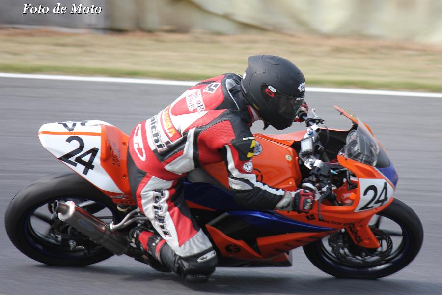 ST250 #24 オートボーイJs 秋庭 将之 Kawasaki Ninja250R