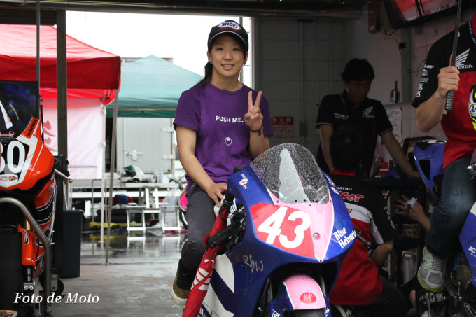 J-GP3 #43 Honda ブルーヘルメットMSC. 足立 眞衣 NSF250R