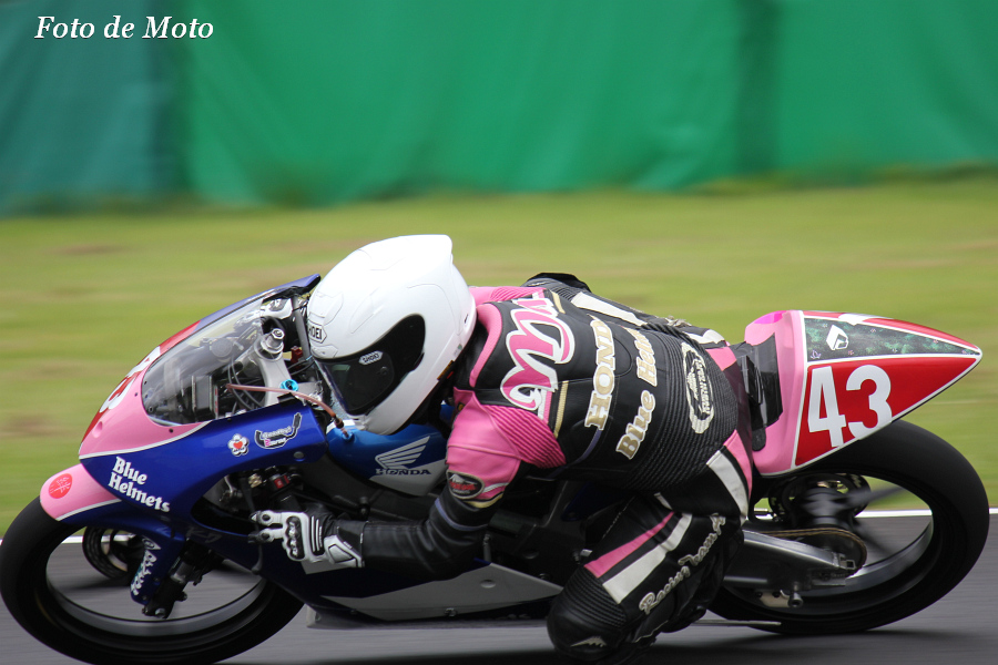 J-GP3 #43 Honda ブルーヘルメットMSC. 足立 眞衣 Adachi Mai NSF250R
