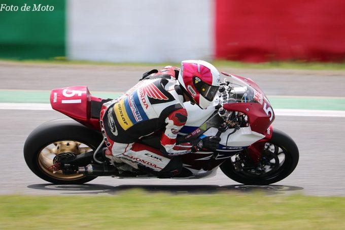 JSB1000 #51 Honda ブルーヘルメットMSC 熊本 森 健祐 Honda CBR1000RR