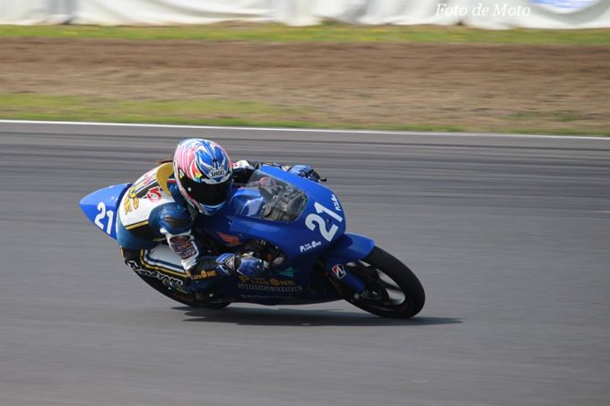 J-GP3 #21 TEAM PLUSONE 中山 愛理 Honda NSF250R