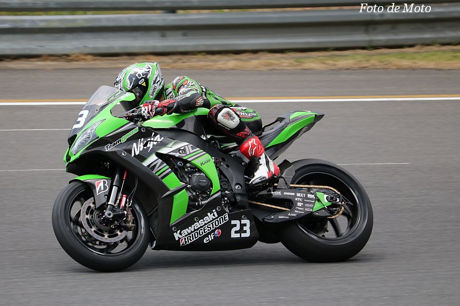 JSB1000 #23 Kawasaki Team GREEN 渡辺 一馬 Kawasaki ZX-10RR