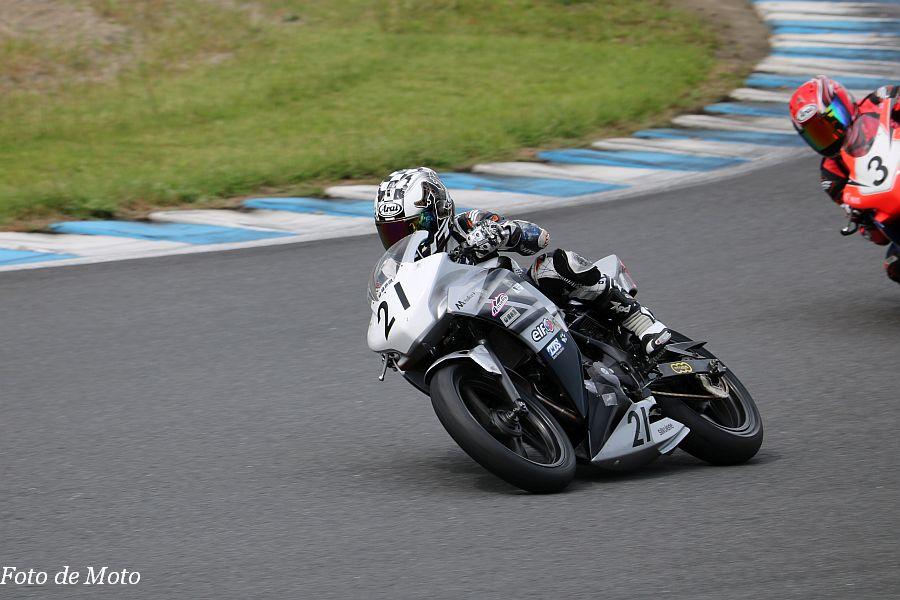 ST250S #21 秋山モータース藤原組 藤原 栄 Honda CBR250R