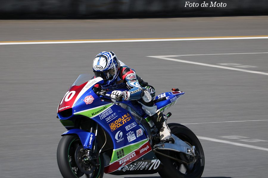J-GP2 #70 OGURA CLUTH with RIDE IN 岩﨑 哲朗 KAWASAKI ZX-6R