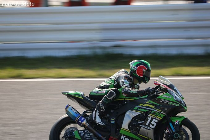 JSB1000 #15 Kawasaki Team GREEN 松﨑 克哉 KAWASAKI ZX-10RR