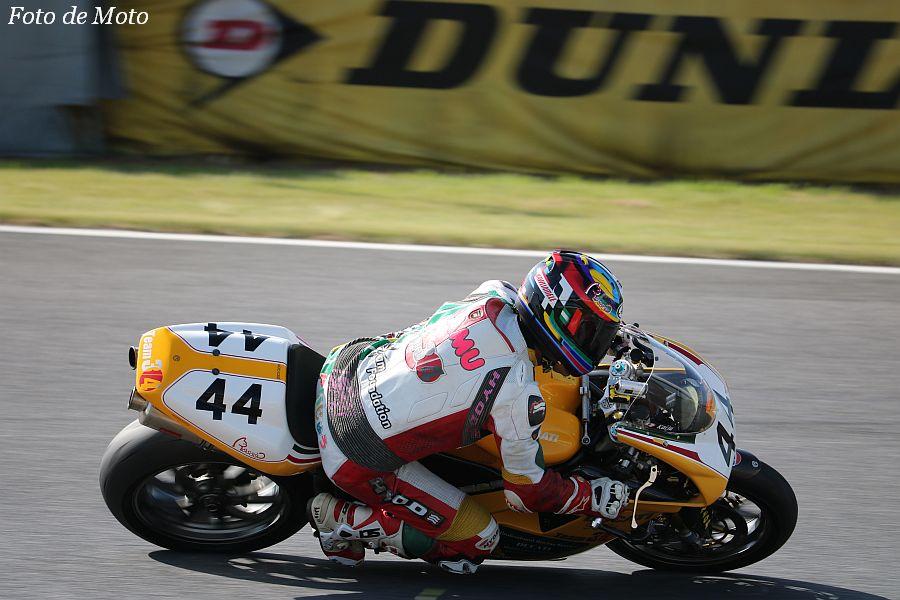B.O.T.T. #44 Team3/4@TFD 木下 承宰 Ducati 998