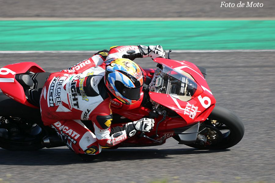 "JSB1000 #61 Team de"" LIGHT 奥田 貴哉 DUCATI Panigare V4 R"