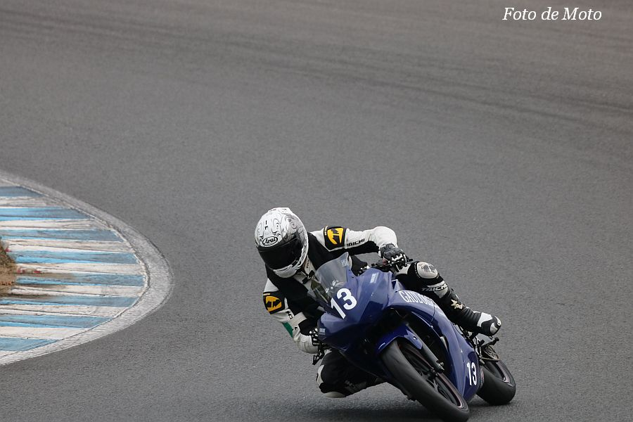 NST R25 #13 TEAM 松本&石川養鶏 鴨志田 岳則 大久保 洋次 黒羽 昭治 Yamaha YZF-R25