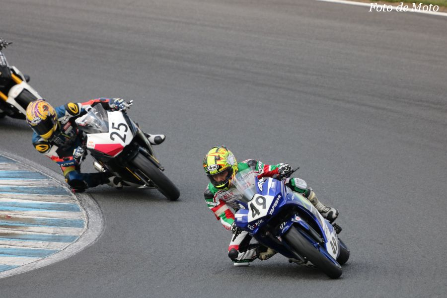 NST R25 #49 YSP板橋中央レーシングチーム 石垣 達也 笛木 秀紀 牧野 雅幸 上野 稔 Yamaha YZF-R25